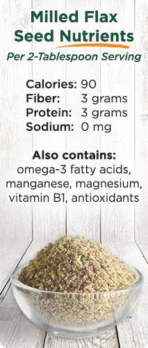 flax seed nutrient breakdown
