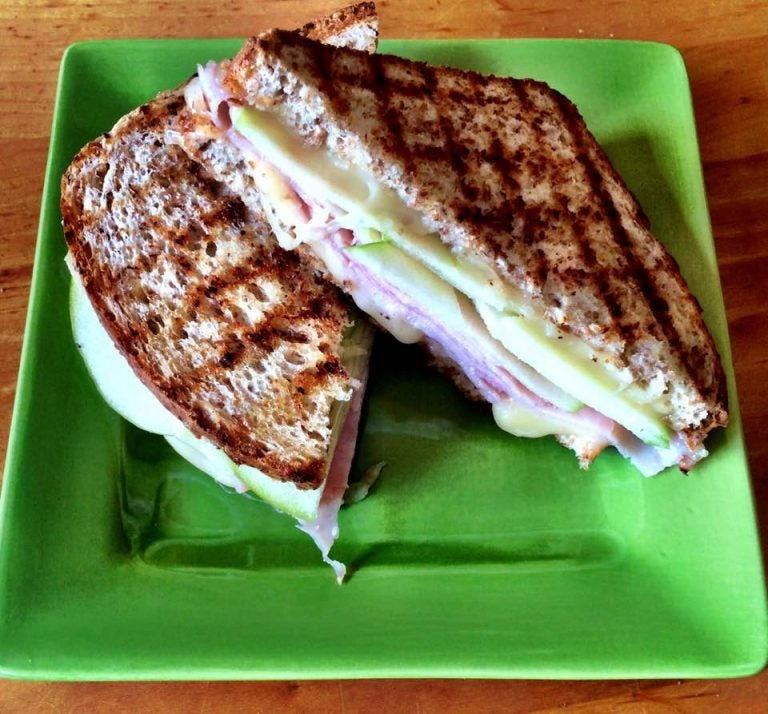 Add apples to ham and cheese sandwiches