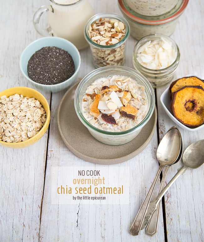 Add chia seeds to oatmeal