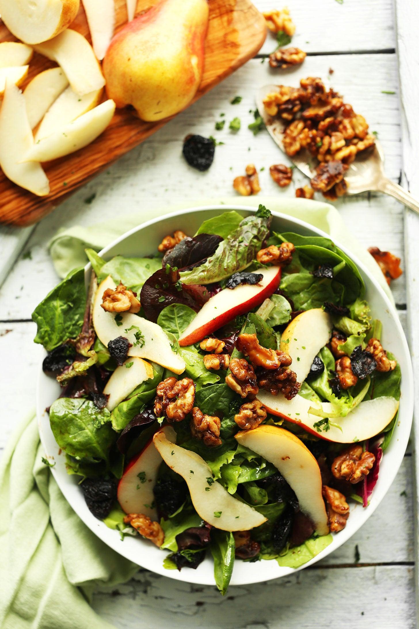 Add walnuts to salads