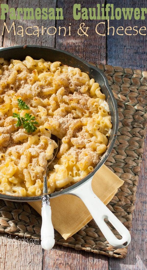 Cauliflower in mac and cheese