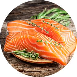 eating fish promotes healthy skin