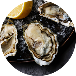 Oysters contain zinc which is good for your skin.