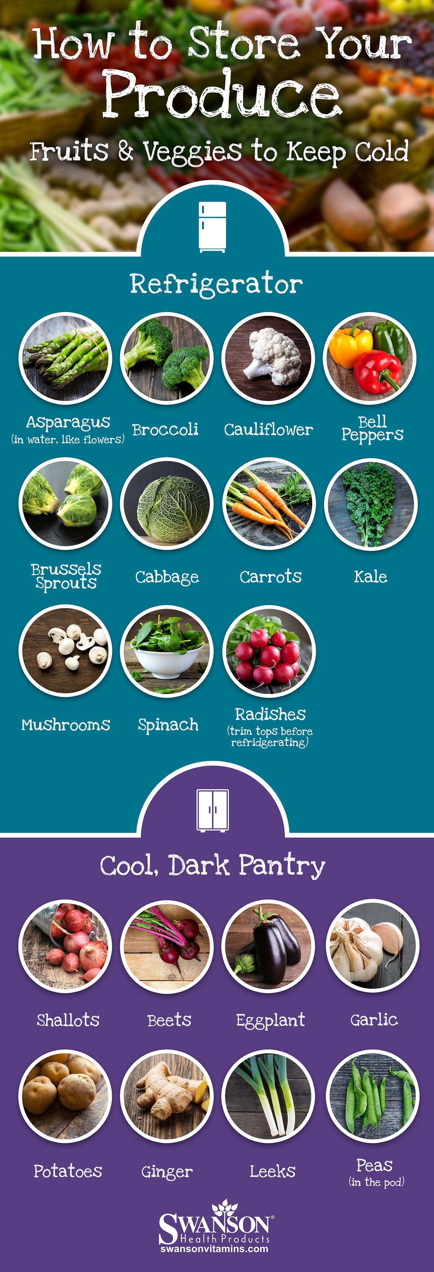 Fruits & Veggies to Keep Cold