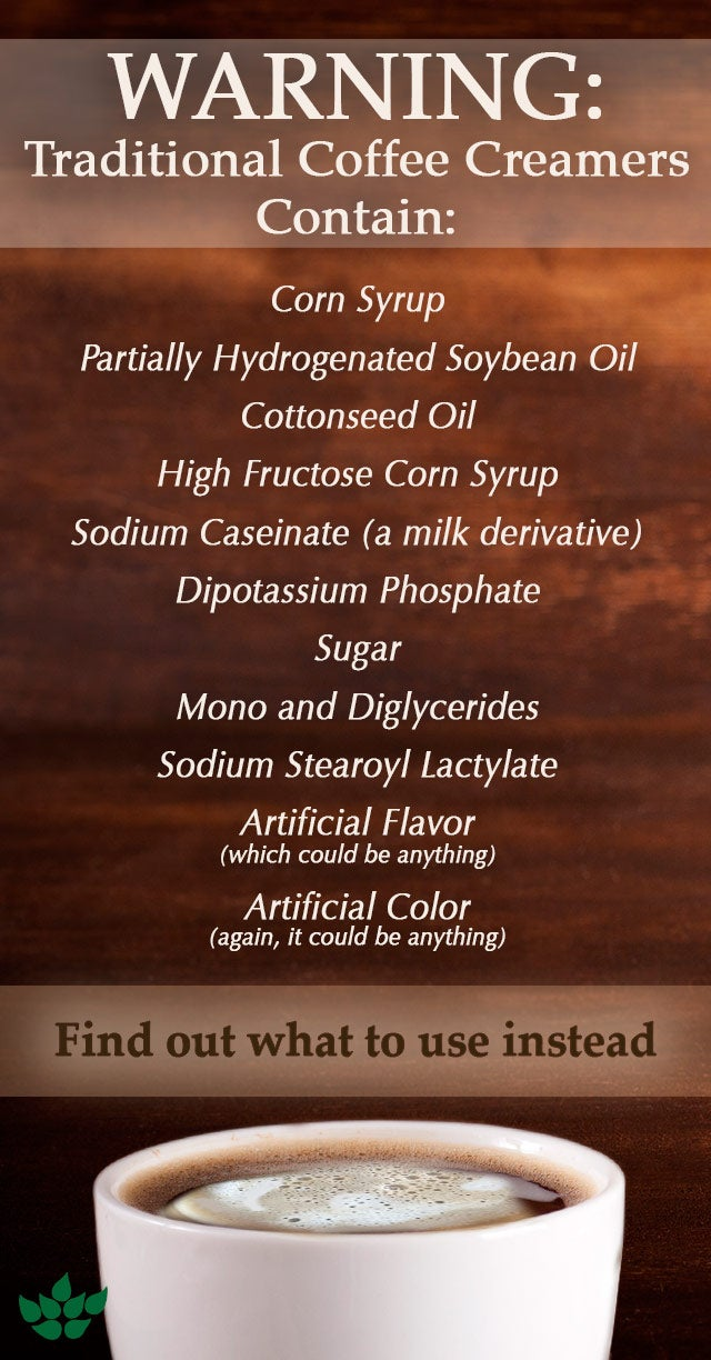 Unhealthy Ingredients in Flavored Coffee Creamers