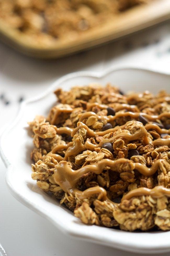 Lighter-Peanut-Butter-Cup-Granola