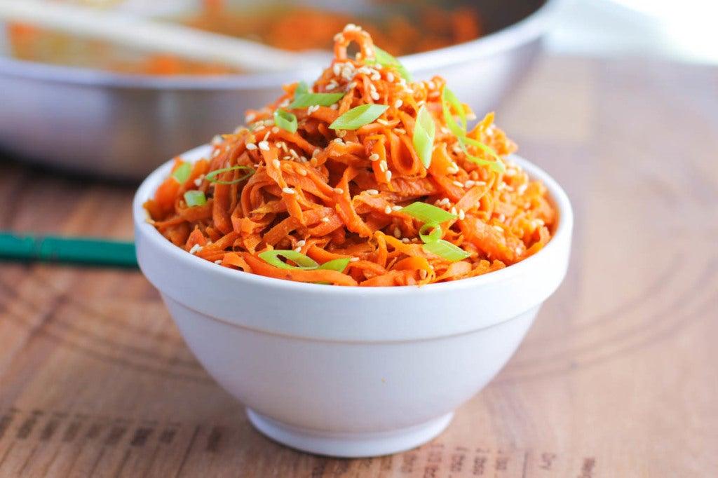 Spicy Peanut Carrot Noodles Recipe