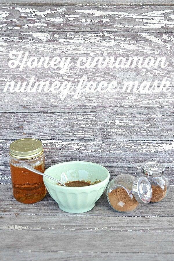 honey cinnamon nutmeg face mask