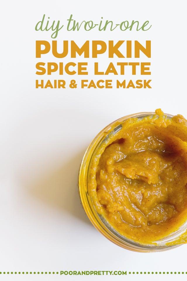 pumpkin hair and face mask