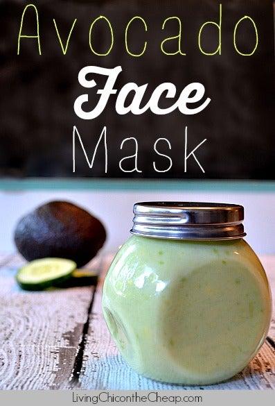 avocado face mask DIY recipe