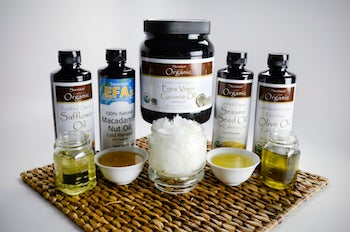 coconut oil and other healthy cooking oils