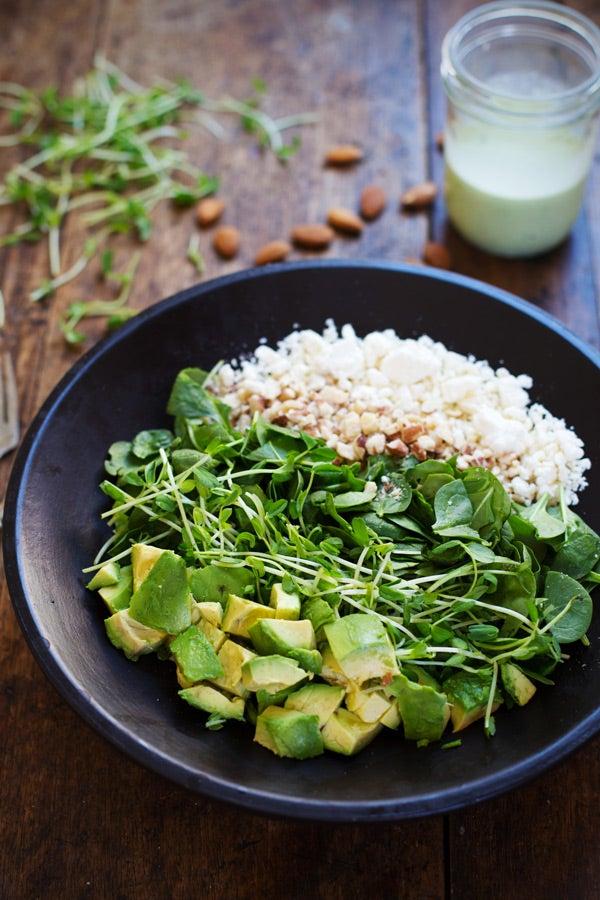 body cleansing via green goddess chopped salad