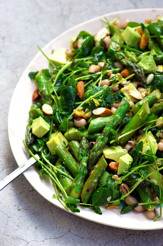 spring body cleansing diet recipe - asparagus salad with lemon and caraway