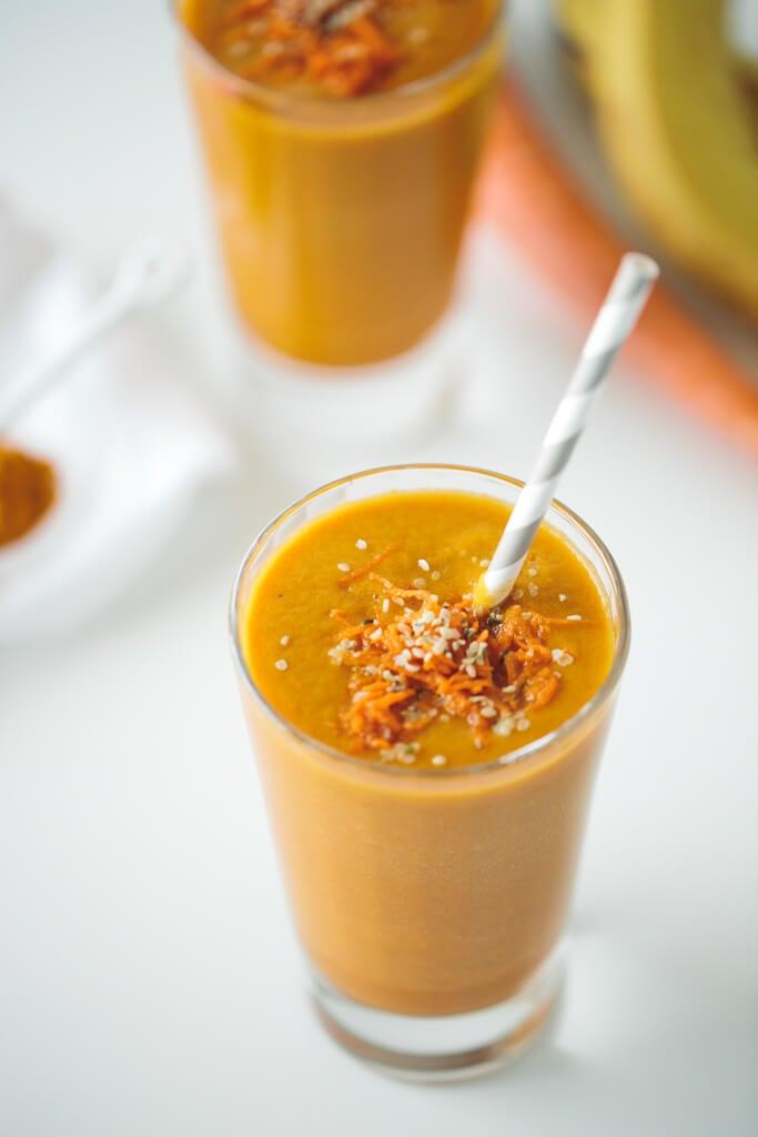 golden beet carrot turmeric smoothie