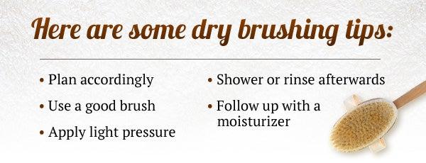dry brushing tips
