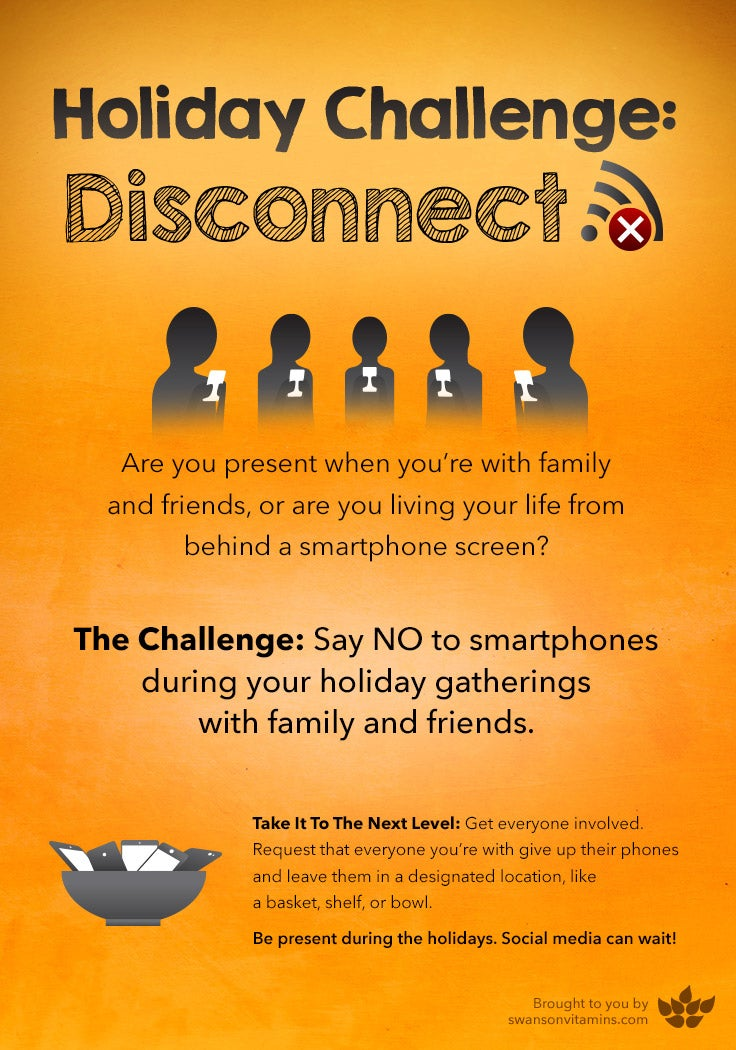 disconnecting from technology holiday challenge