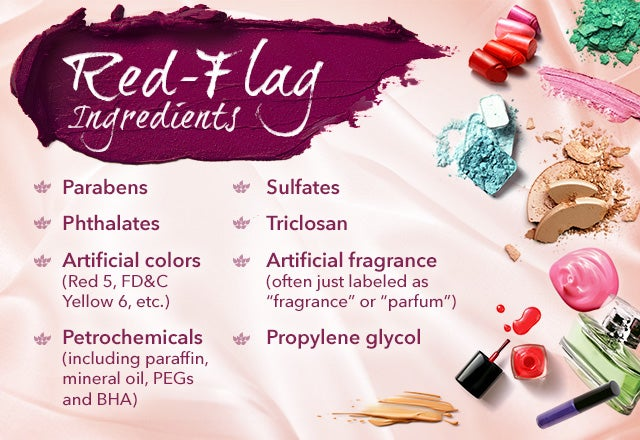 red flag cosmetic ingredients