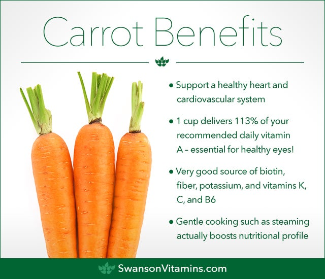 carrot health nutrition benefits