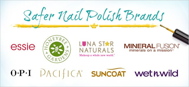 safer nail polish brands - less toxic ingredients