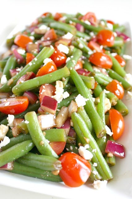 balsamic green bean summer salad recipe
