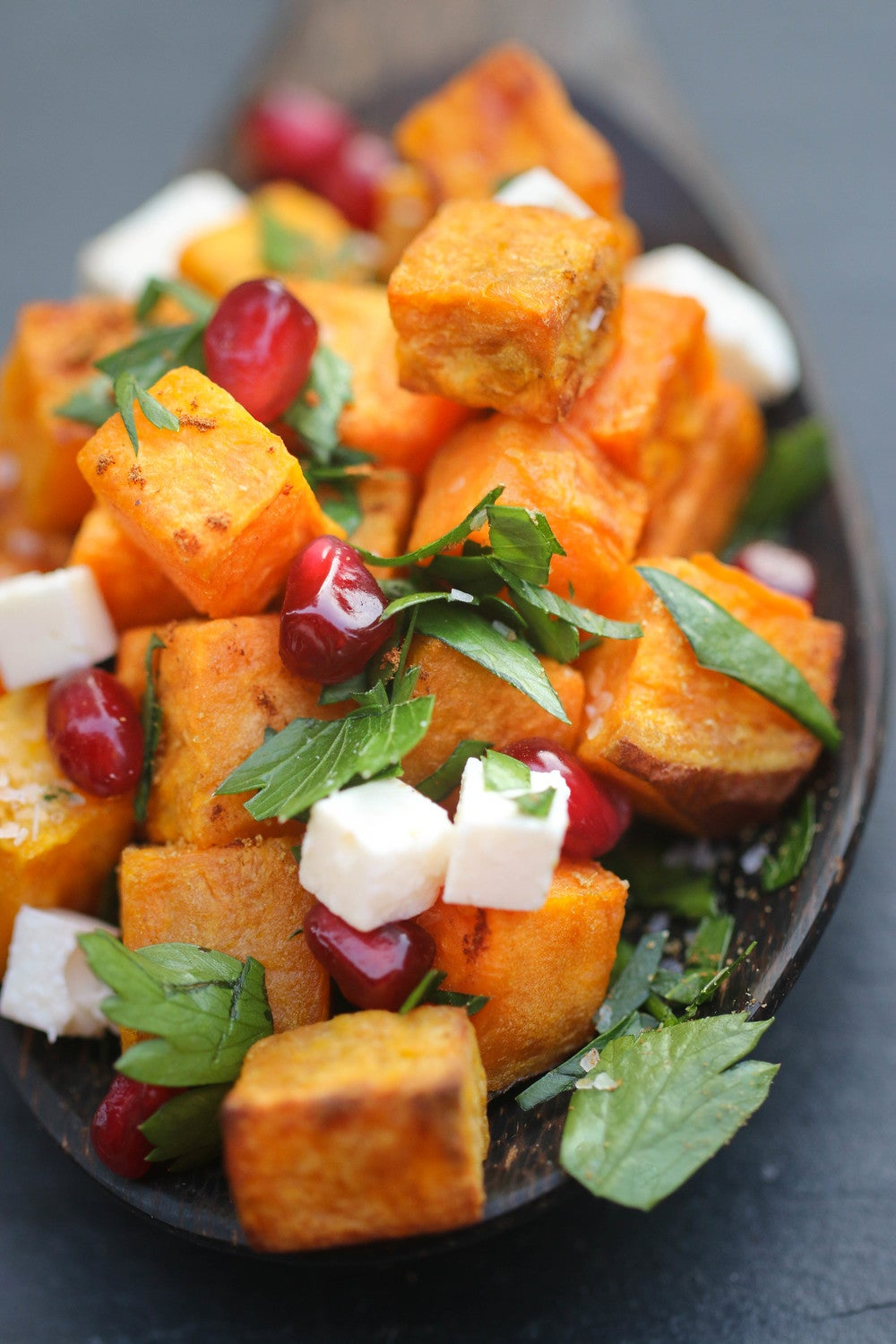 moroccan roasted sweet potato salad