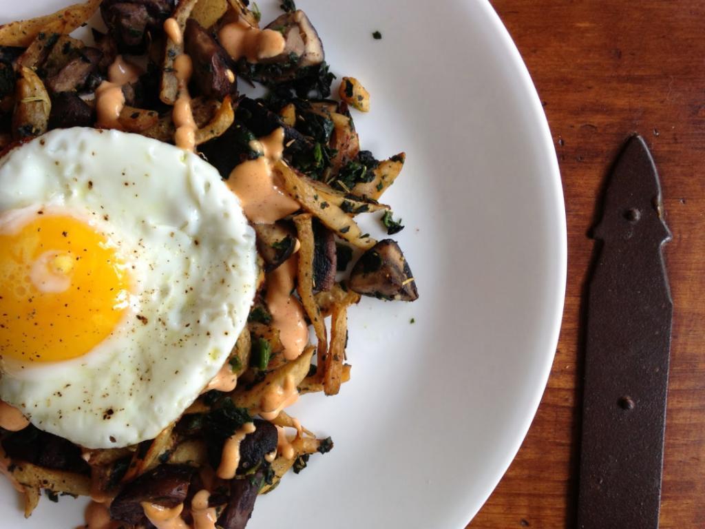 Roasted Parsnip Breakfast Hash