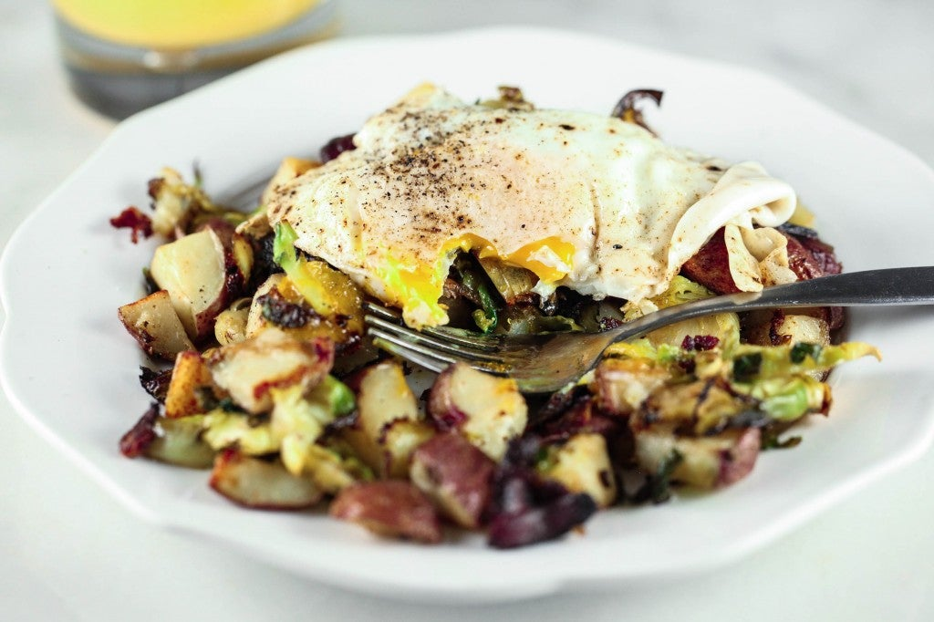 Potato and Brussels Sprouts Breakfast Hash