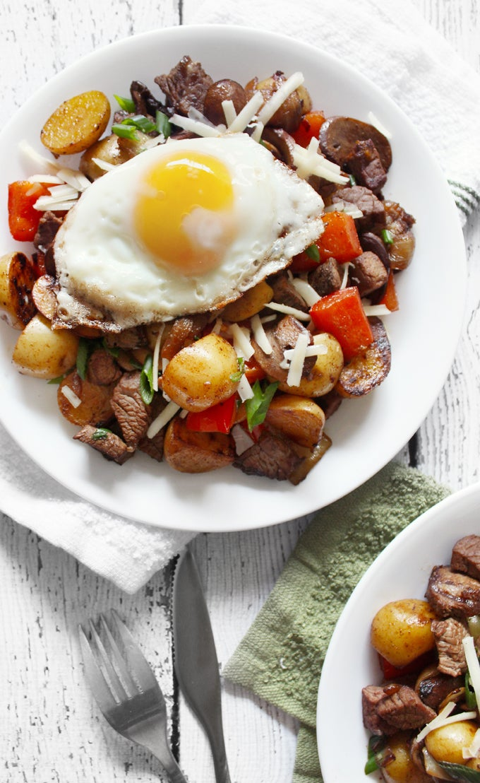 Smokey Beef & Mushroom Breakfast Hash