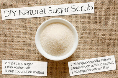 DIY Natural Sugar Scrub