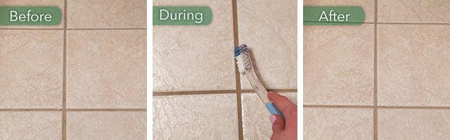 lemons to clean grout