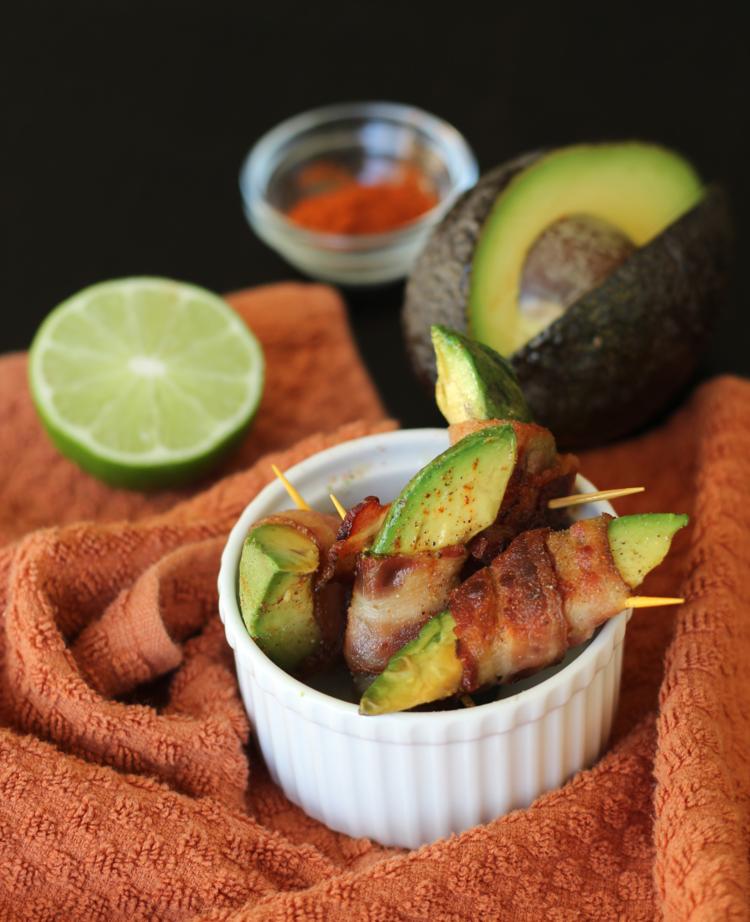 bacon wrapped cooked avocado recipe