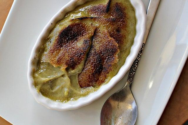recipe for avocado pistachio creme brulee