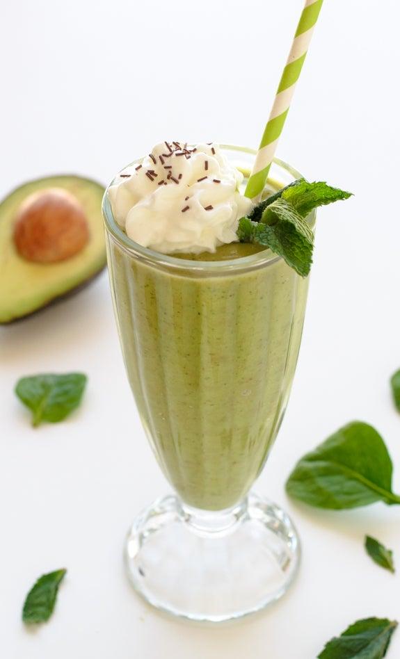 shamrock shake with avocado