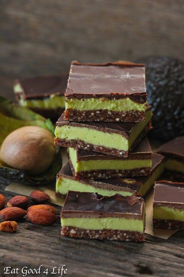 avocado mint cream bars recipe