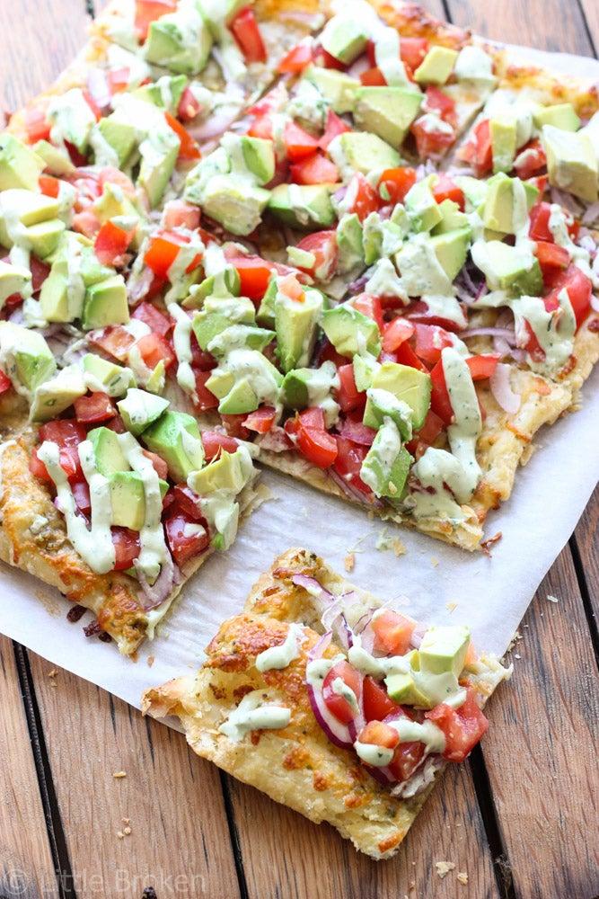 recipe for skinny avocado pizza