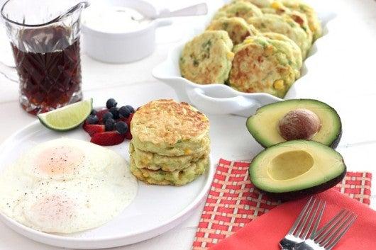 avocado corn cakes breakfast biscuits