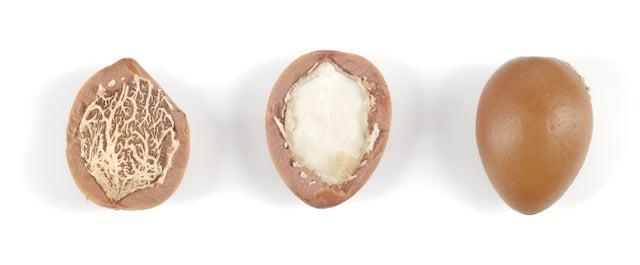 argan oil nuts - close up