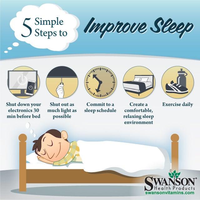 5 steps to improve sleep