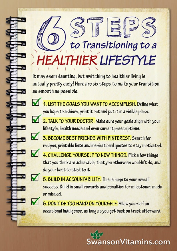 6 Steps to transitioning to a healthier lifestyle