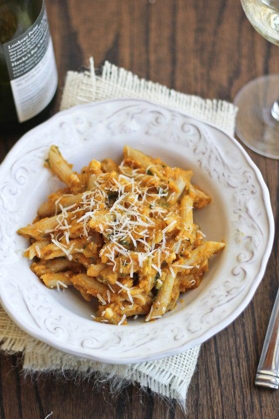 pumpkin pasta with sage
