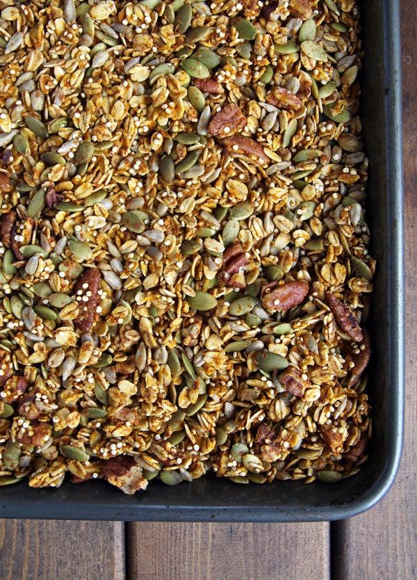 healthy pumpkin seed granola recipe