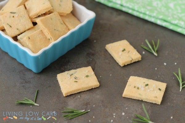 Rosemary and sea salt paleo crackers
