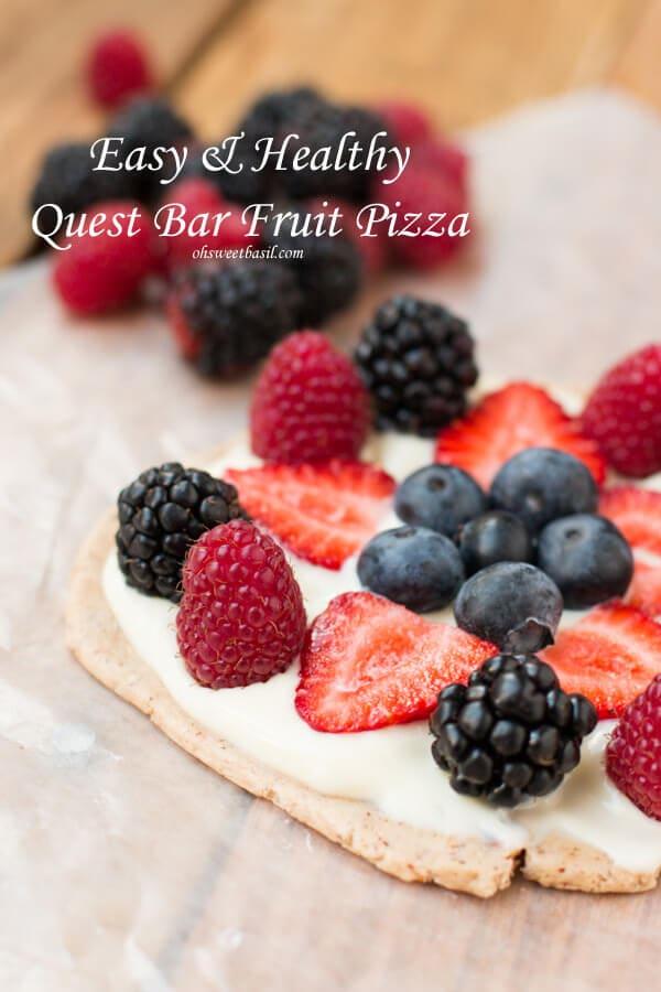 Quest Bar Fruit Pizza
