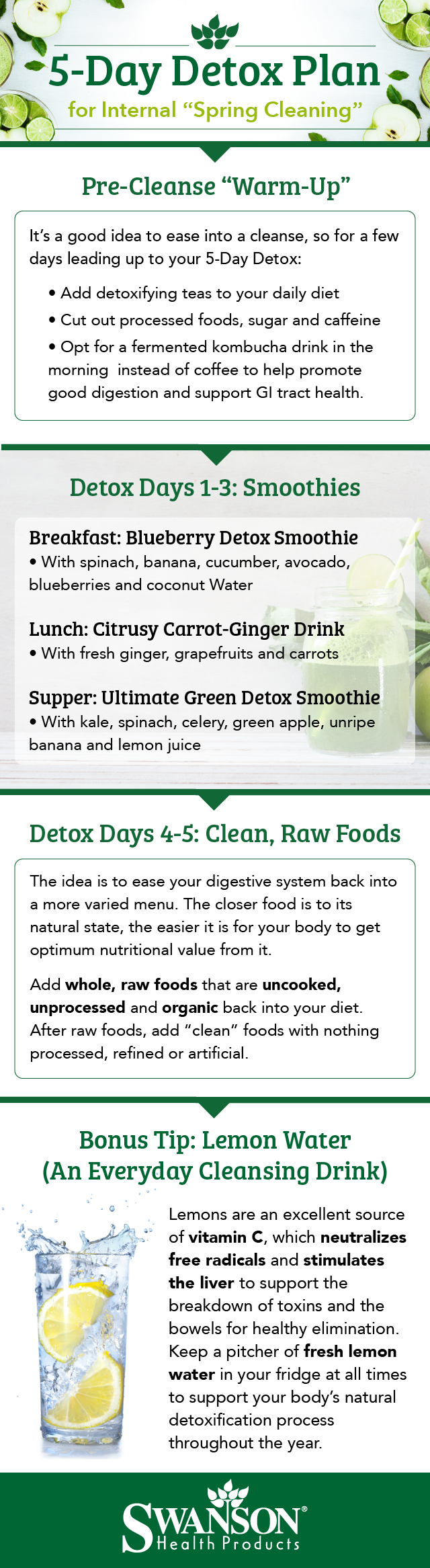 5 Day Detox Plan for Internal Spring Cleaning!