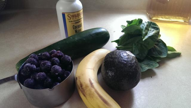 Blueberry Detox Breakfast Smoothie Ingredients