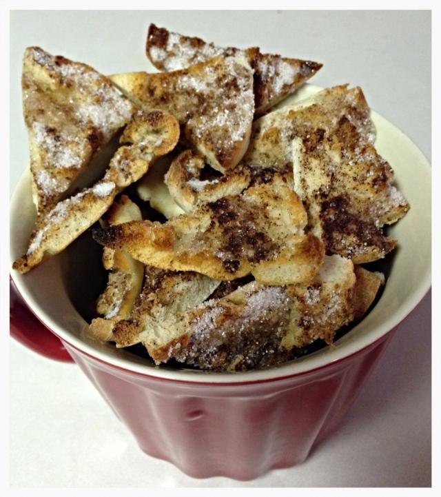 cinnamon sugar pita chip recipe