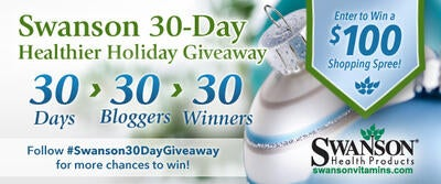 Swanson 30-Day Healthier Holiday Giveaway [COMPLETED for 2013!]
