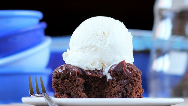 crazy healthy chocolate cake with frosting
