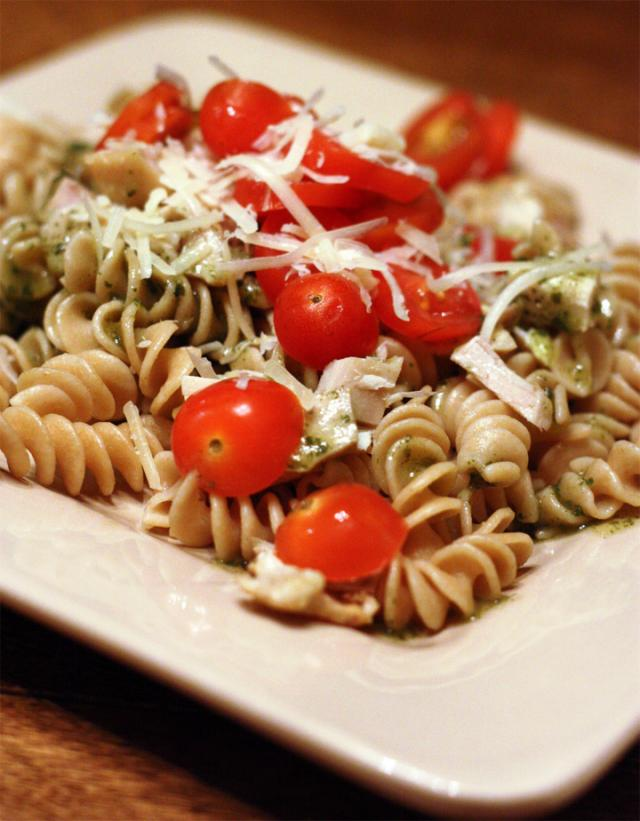 Swanson Health Products Healthy Pesto Chicken Pasta Recipe