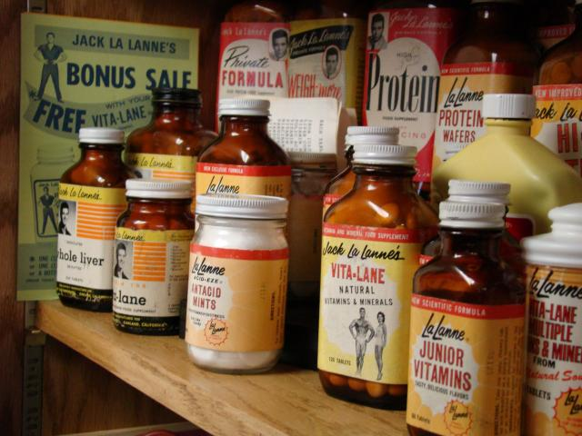 A selection of the original Jack LaLanne supplements
